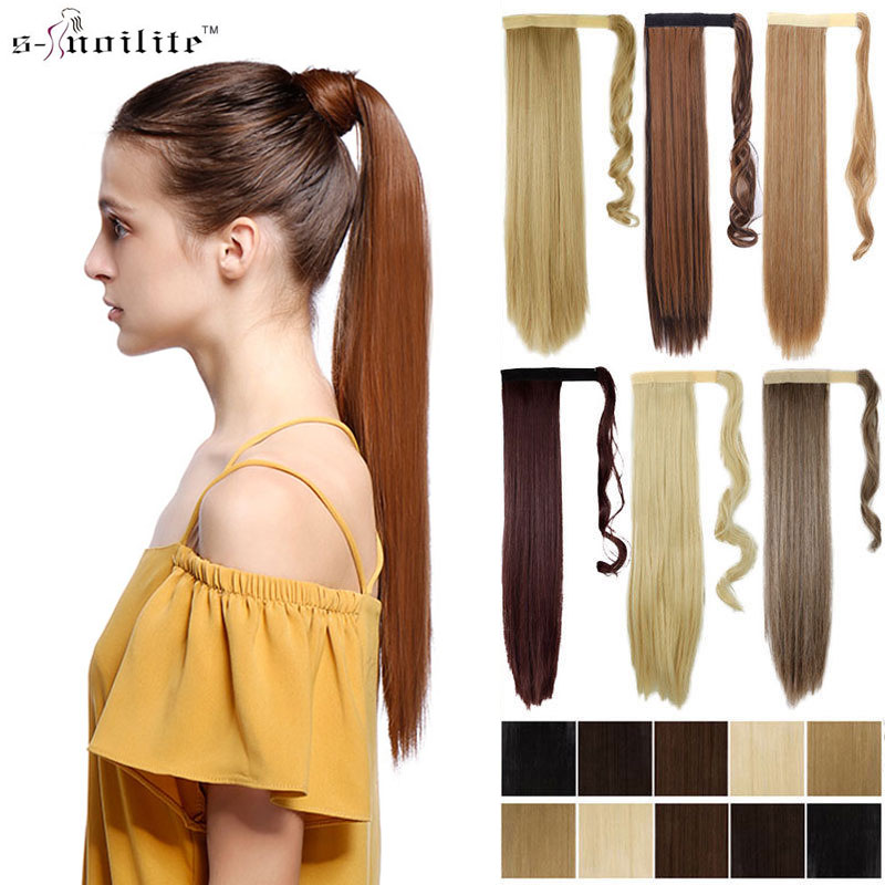 26 Inch Long Wrap Around Ponytail Clip In Hair Extensions Hairpieces