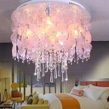 Schlafzimmer Licht Kristall Deckenleuchte Natrlichen Schale Lampe Mittelmeer Shell Wohnzimmer ZA81415