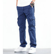 KUEGOU Spring Casual Pants Thin Black Gray Khaki Color For Man's Slim Fit Male