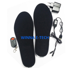 FREE SHIPPING  Outdoor & Home  1800mAh Remote Heating Feet Heater Insoles BLACK  41-46 Large Size Cut To Fit