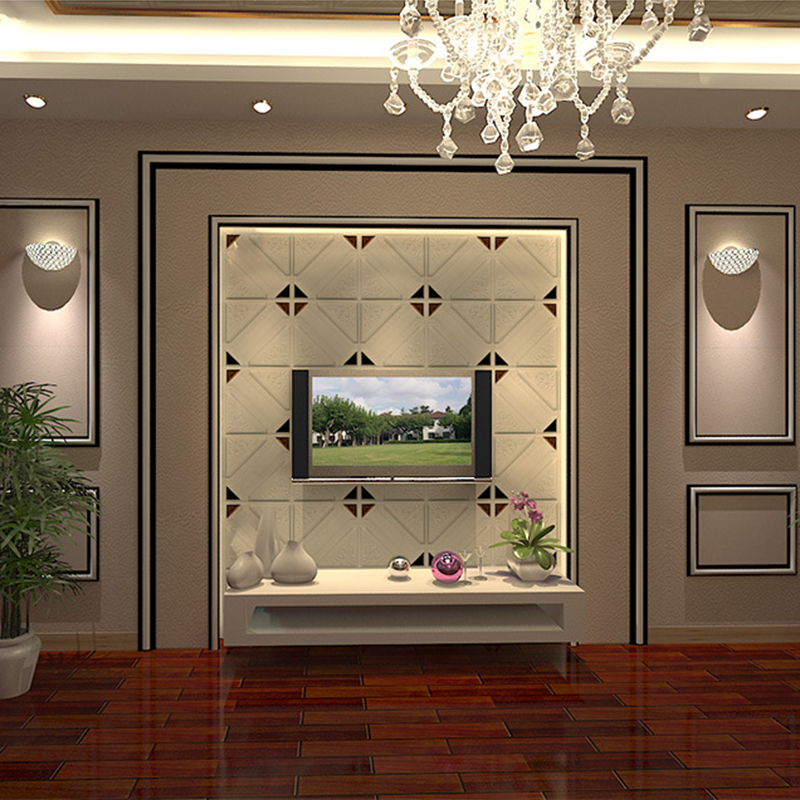 PE Foam 3D Leather Carving Wall Sticker 30*30cm Soft Case Living Room Bedside TV Background Wall Home Decor Self-adhesive Mural