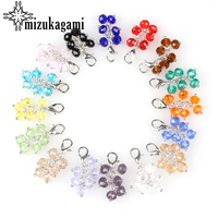 20pcs Lot Colorful Crystal Tassel Lobster Clasp Grapes Charms For Glass Living Memory Locket DIY Accessories