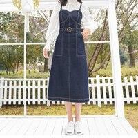 Новинка 2019 года, весенне осеннее модное повседневное хлопковое Брендовое джинсовое платье для девочек, одежда 79374