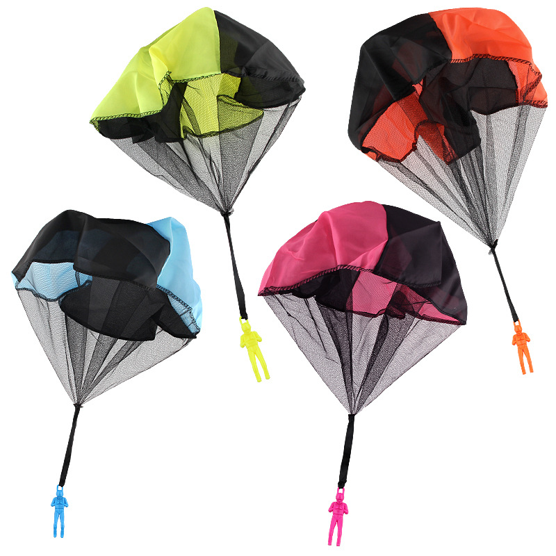 4 style Mini Hand Throwing Parachute Outdoor Sports Fly Toy Educational Kids Playing Soldier Parachute Fun Flying Toy Gift