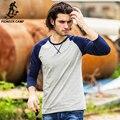 Pioneer Лагерь Весна Футболка С Длинным Рукавом Мужчины марка одежды качество Slim Fit Мужчины Повседневная Длинные Футболки С Длинным Рукавом футболки мужчин