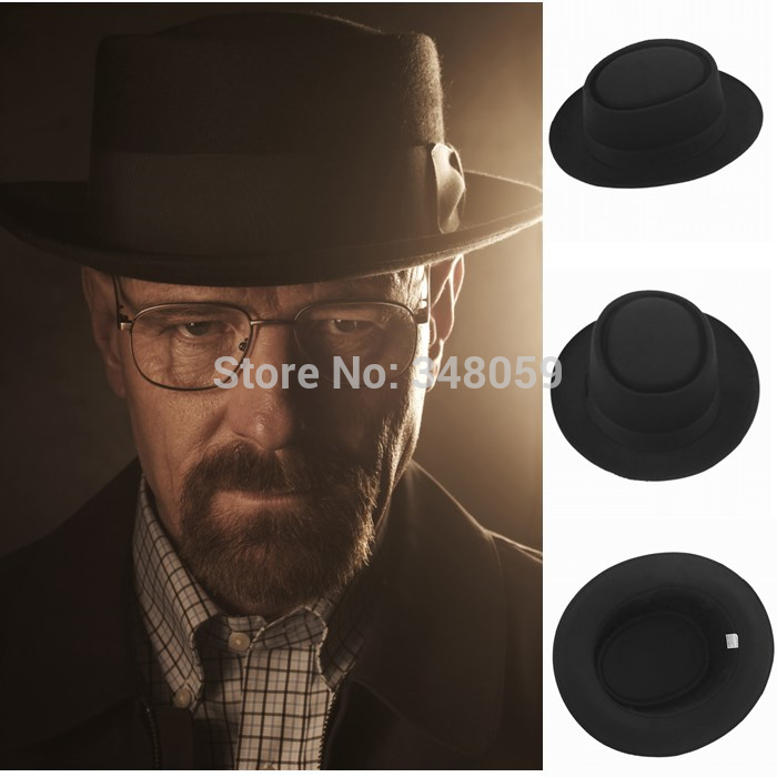 2015 Fashion Men Classic Felt Pork Pie Porkpie fedora Hat Chapea Cap Upturn Masculino Black Ribbon Band panama hats(China)