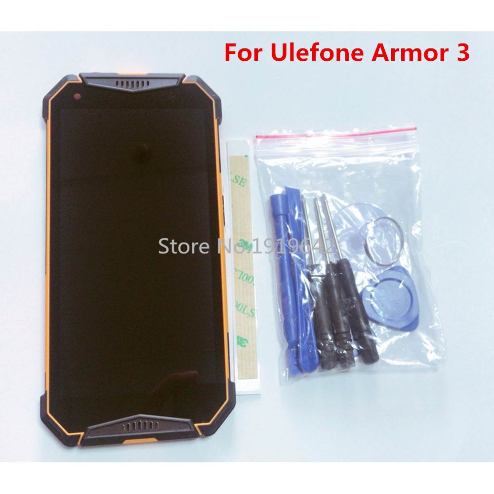 Repair tools For Ulefone Armor 3 3T 5 inch LCD Display Assembly With Frame Touch Screen