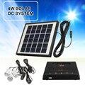 Domestico portatile del Pannello Solare Esterna HA CONDOTTO LA Lampada Della Luce del Caricatore del USB del Giardino Lanterna Di Emergenza LED Sistema di Generatore di Kit