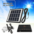 Tragbare Hause Outdoor Solar Panel LED Licht Lampe USB Ladegerät Garten Laterne Notfall LED Generator System Kit