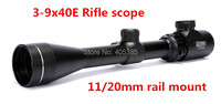 3 9x40EG Red & Green Rifle Gun Scope Airsoft Scope Gun Equipment Airsoft Accessories For Hunting