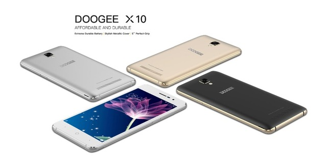 DOOGEE X10 8GB ROM 512MB RAM 5.0 inch IPS Screen Android 6.0 Smartphone MT6570 Quad core 1.3GHz Dual SIM OTA Dual ID 3360mAh