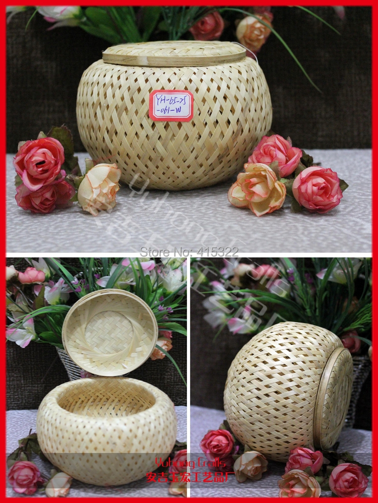 Environmental bamboo weave baskets storage candy baskets