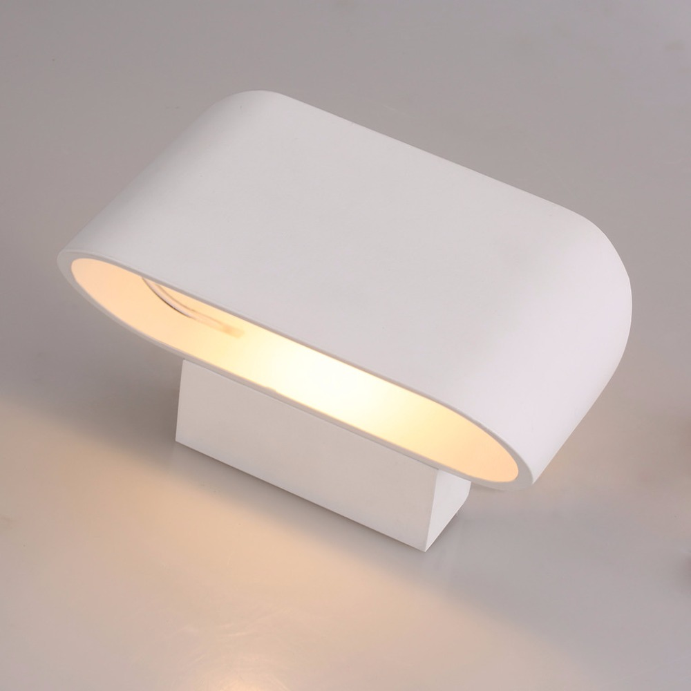 cheap Excelvan 5W LED Wall Light White 85-265V Wall Sconce Night Light,Widely Use for Hotel Restroom Bathroom Bedroom Wall Lamp pic,image LED lamps offers