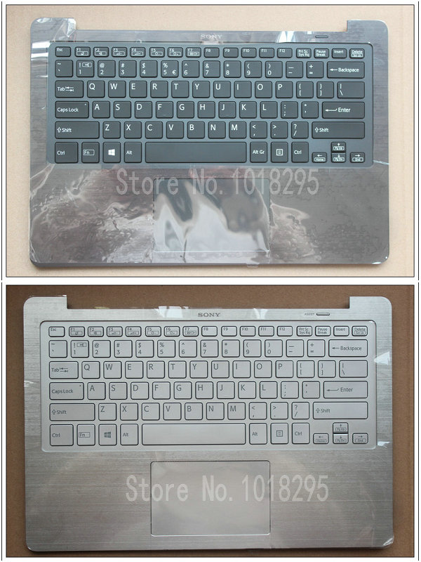 NEW laptop US keyboard for Sony SVF13N black/Silver backlight keyboard with Palmrest Cover new for sony vgn fj series laptop us keyboard 147951221 black