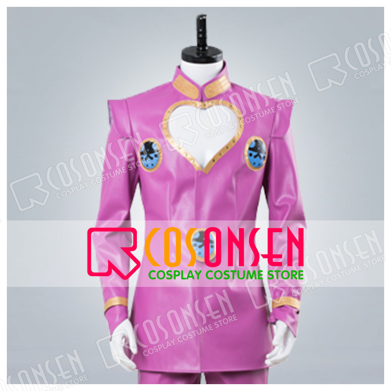 GioGio s Bizarre Adventure Giorno Giovanna Cosplay Costume Full Set Pink ver COSPLAYONSEN