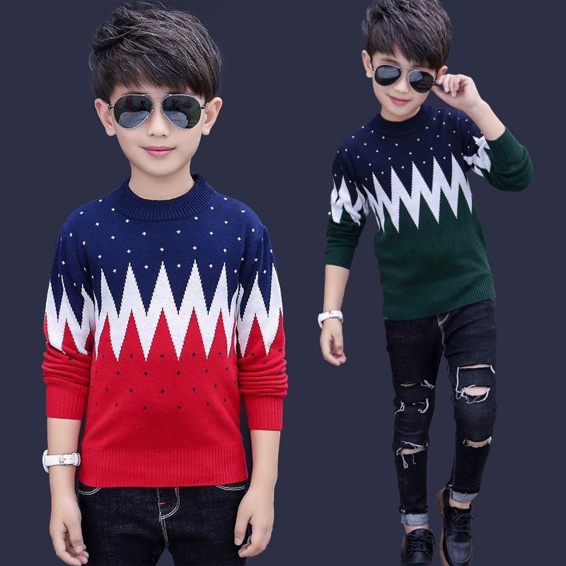Winter Cotton products  Boys clothing O-Neck pullover Sweater winter Keep warm Kids clothes children's clothing 5