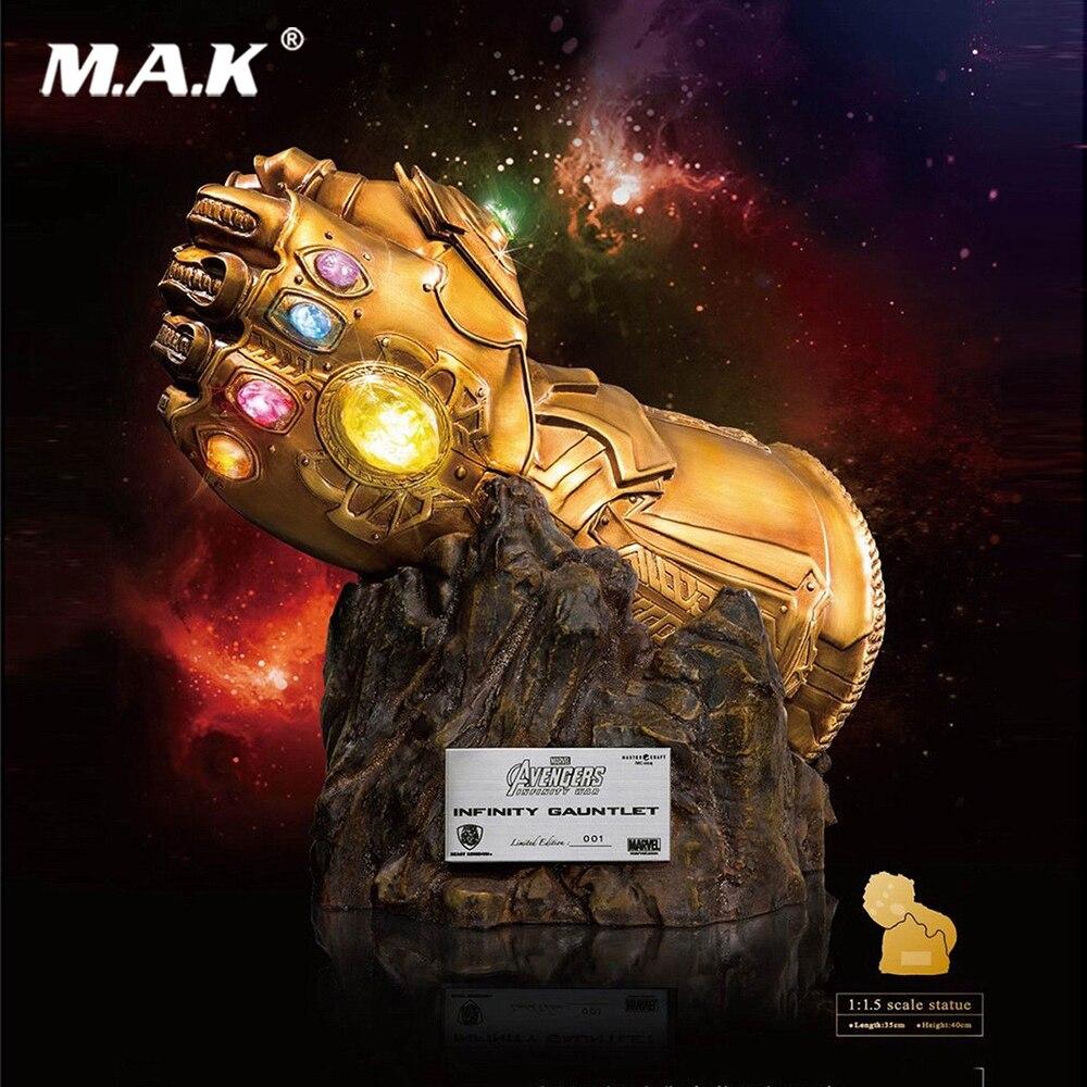 1/1. 5 Besta Reino MC-004 Vingadores Thanos Infinito Guerra Infinity Gauntlet Luvas