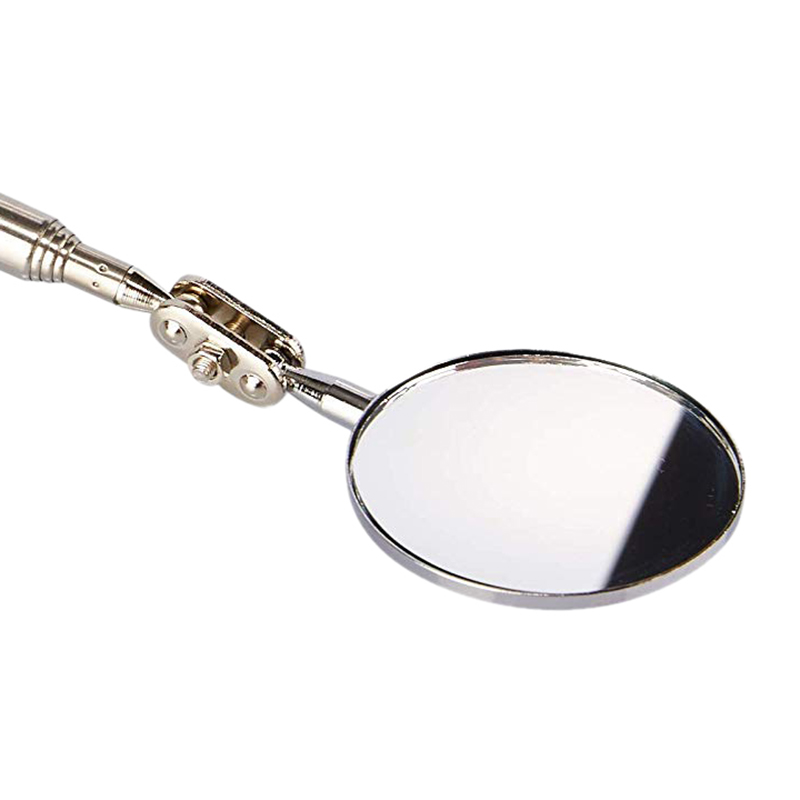 2 Pack Round 2 Inch Telescoping Inspection Mirror Extends Up To 24 5 Inches Black in Pressure Gauges from Tools