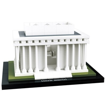 HSANHE Architecture Lincoln Memorial Building Blocks Kit City Bricks Classic Model Kids Toys Gift Compatible Legoings 21035 lego