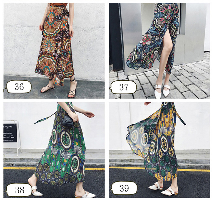 Boho Asymmetrical Chiffon Maxi Long Skirts 29