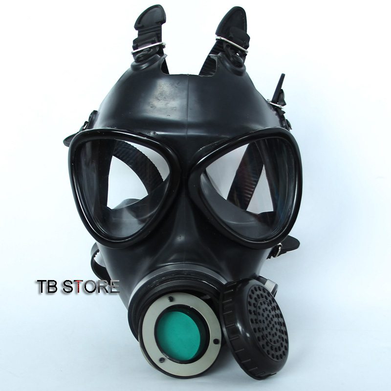 Image 3 - 87 type gas Full mask Non military Respirator Gas mask high quality rubber High definition safety mask 4 toxic gas filters-in Masks from Security & Protection