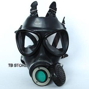 Image 3 - Полноразмерная маска 87 типов, невоенный респиратор, противогаз, Высококачественная Резиновая Защитная маска высокого разрешения, 4 токсичных газовых фильтра