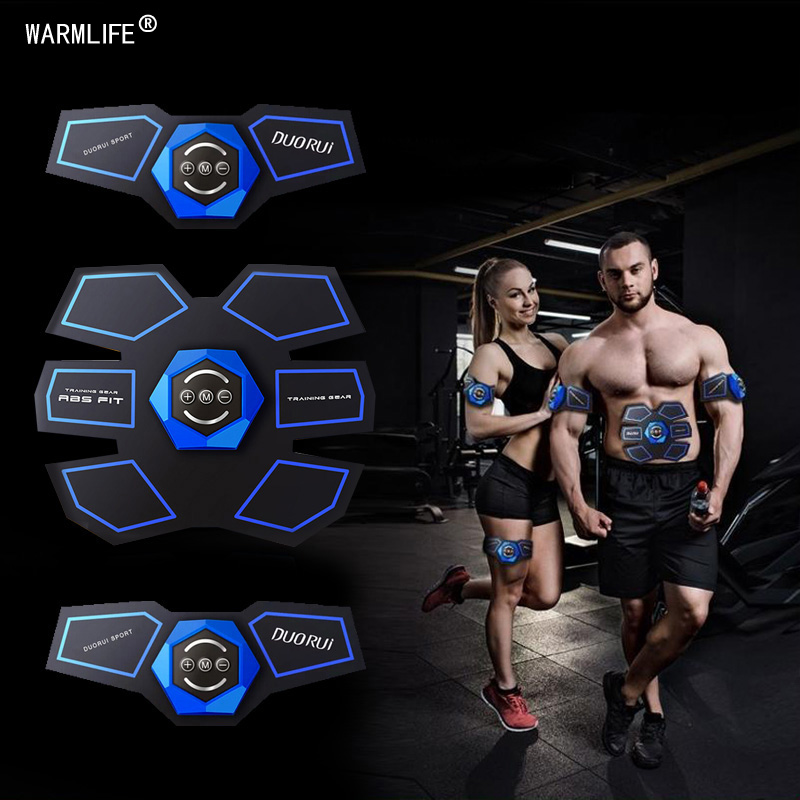 Electric USB Rechargeable EMS Muscle Stimulator Abdominal Muscle Trainer Exerciser Body Shaping Slimming Patch Vibrator