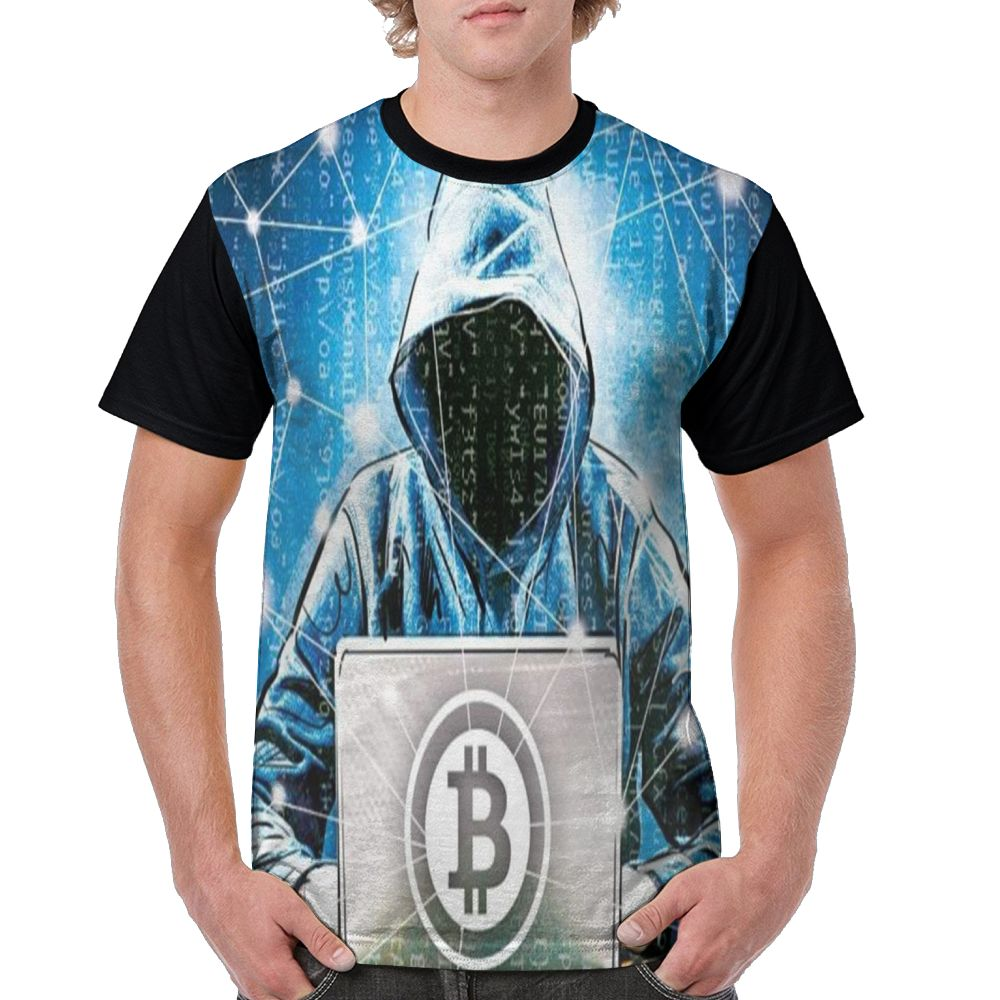 SAMCUSTOM Men T full printing cryptocurrency personalized creative casual spring, summer and autumn men's short sleeve T-shirt 2