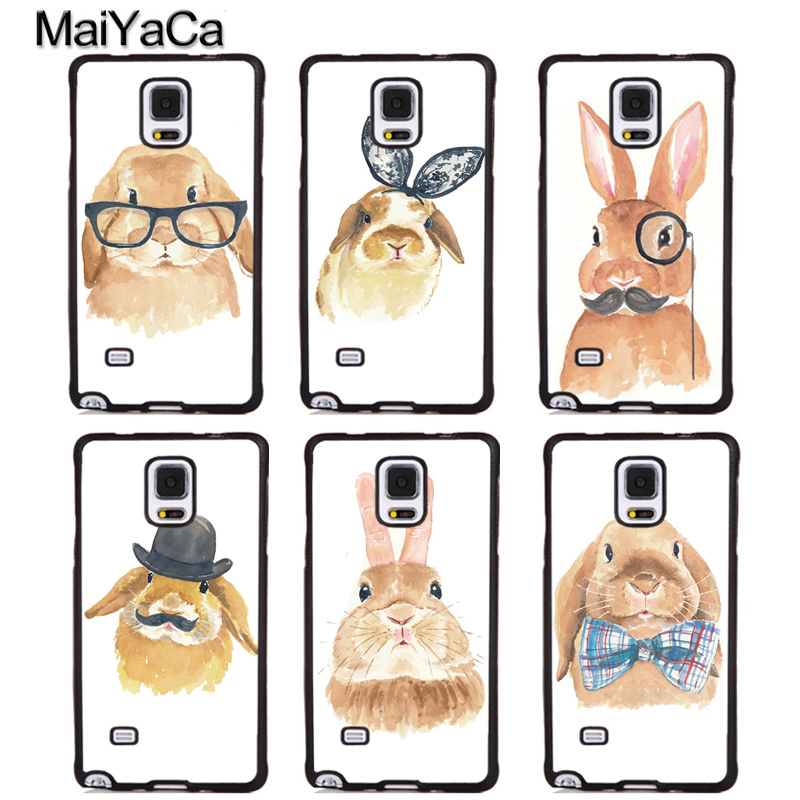 MaiYaCa Cute Rabbit Bunny Full Protective Phone Cases For Samsung Galaxy S5 S6 S7 edge Plus S8 S9 plus Note 3 4 5 8 Cover Shell