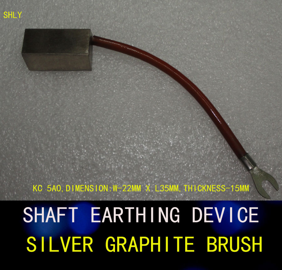 SHAFT EARTHING DEVICE,SILVER GRAPHITE BRUSH,KC 5AO,DIMENSION:W-22MM X L35MM,THICKNESS-15MM earthing fitted sheet 137x 203cm silver antimicrobial fabric conductive