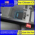Accesorios para 2013-2015 Citroen C5 coche pegatina antideslizante puerta pad ranura puerta alfombra esteras Puerta Interior Taza titular