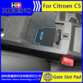 Car accessories for 2013-2015 Citroen C5 anti slip sticker gate slot pad door mats carpet Interior Door Cup Holder
