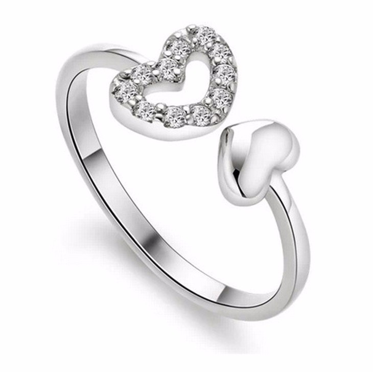 Engagement Rings Sale Price: Lowest Price On Earth Sale Silver Plated Austrian Crystal