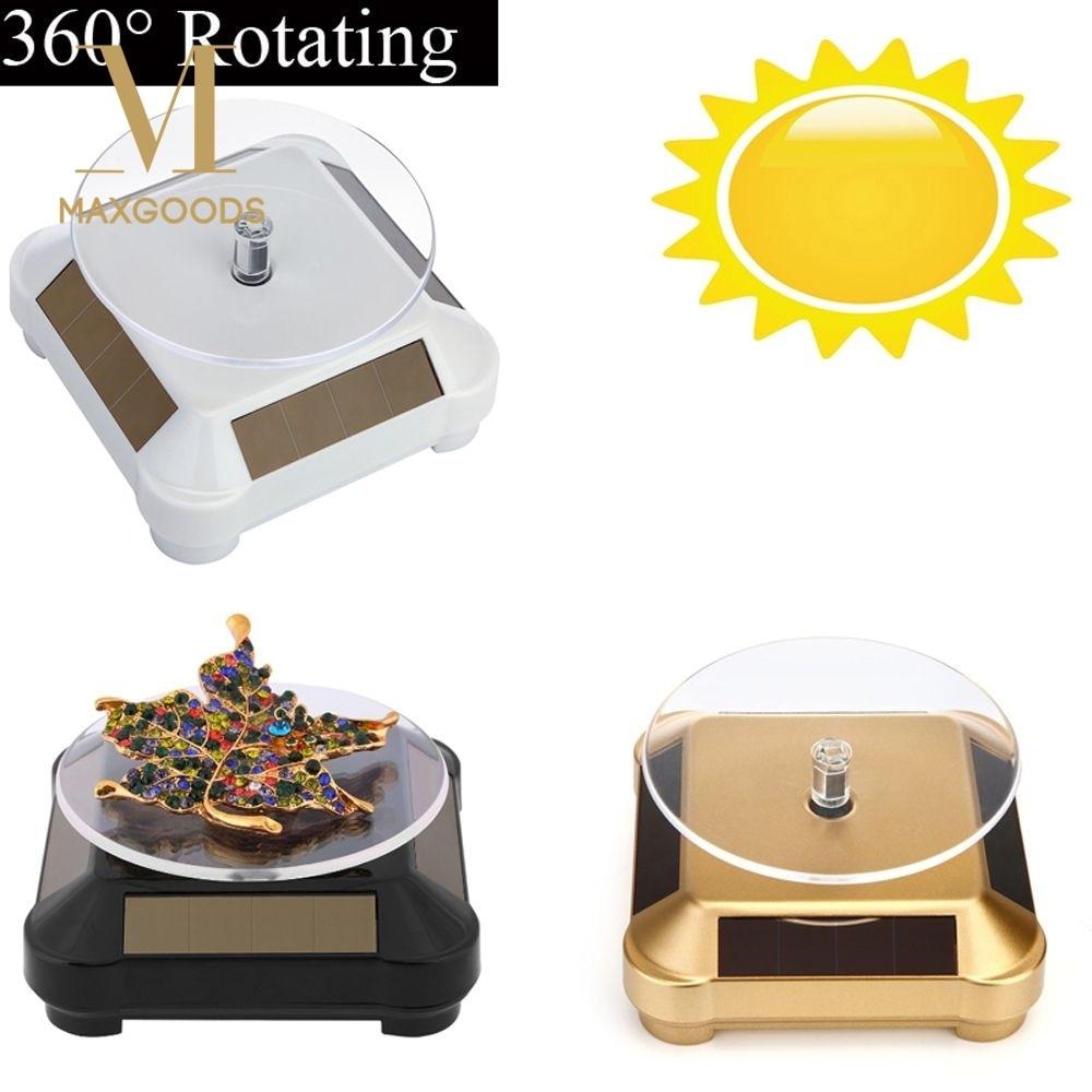 1 Pcs New Solar Showcase Automatic Rotating Stand 360 Degree