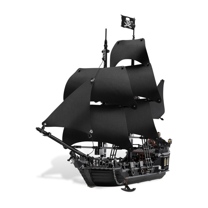 IN STOCK LEPIN 16006 804Pcs Pirates Of The Caribbean The Black Pearl Ship Model Building Kit Blocks BricksToy Compatible 4184 kazi 1184 pcs pirates of the caribbean black pearl ship large model christmas gift building blocks toys compatible with lepin