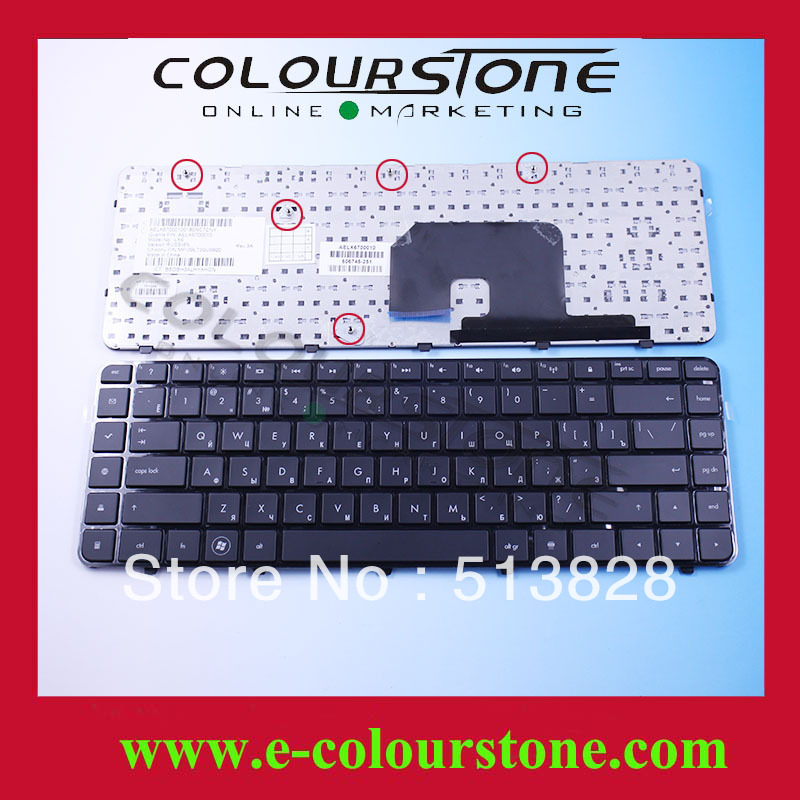 RUSSIA RU Laptop keyboard for HP DV6-6000 DV6-6100 DV6-6200 service With frame Black