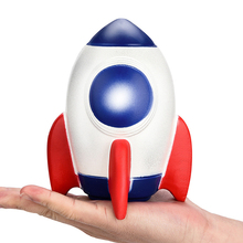 New Jumbo Rocket Squishy Simulation Fashion Slow Rising Soft Bread Cake Squeeze Toy Stress Relief Fun for Kid Gift 11*15CM