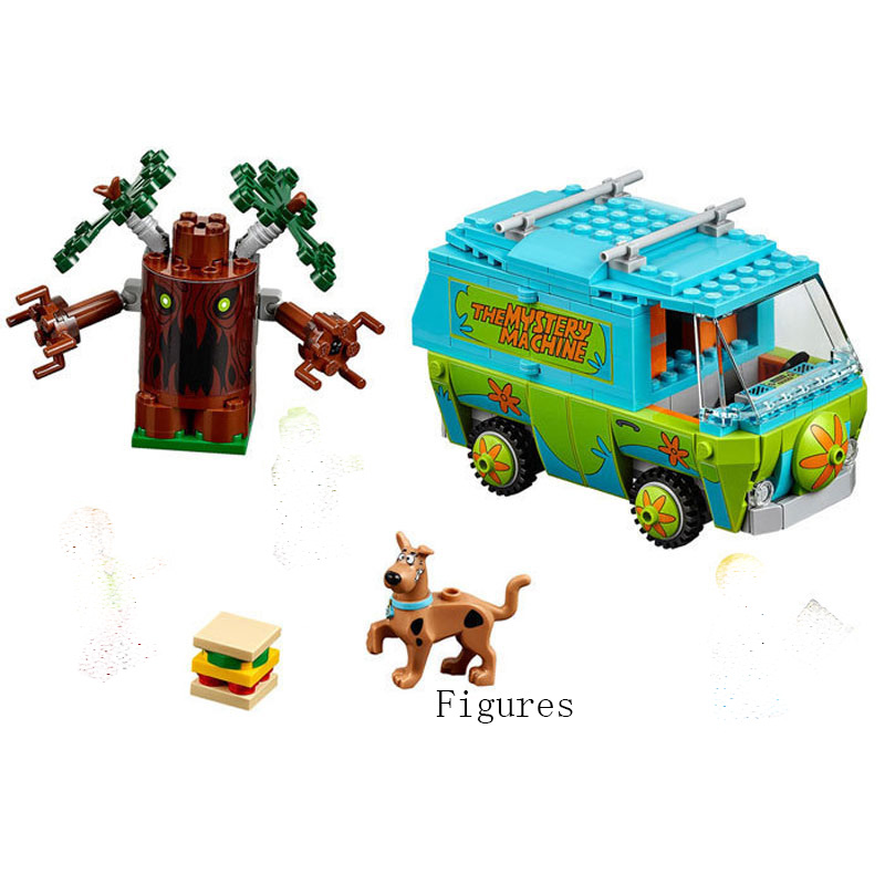 10430 Scooby Doo the Mystery Machine Bus Building Block Set Fred Shaggy Zombie Kids Toy Compatible with