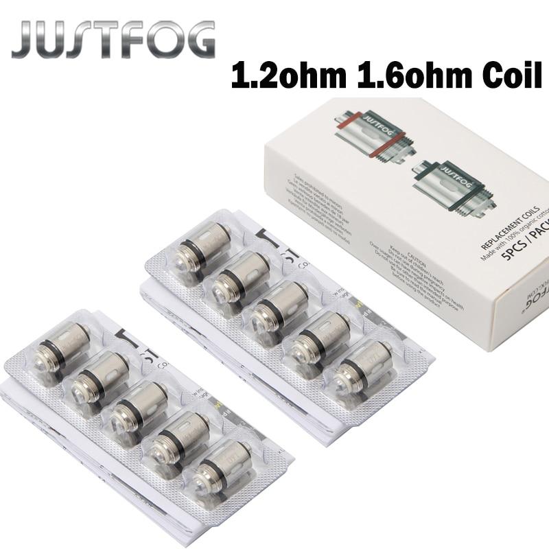 20pcs/lot JUSTFOG Q16 Coil 1.2ohm 1.6ohm C14 Coil Head Core For Q16 Q14 P16A P14A Clearomizer C14 Sub Ohm Tank E-cig Coils