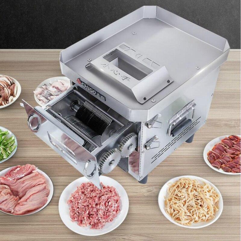 Trancheuse de tiroir commerciale hachoir à viande coupe-fil machine à découper lame de remplacement sans outil entièrement automatique en acier inoxydable