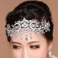 Vintage Bridal Crystal Rhinestone Headbands Wedding Head Pieces Jewelry Accessories Forehead Tiaras Hair Chains For Women