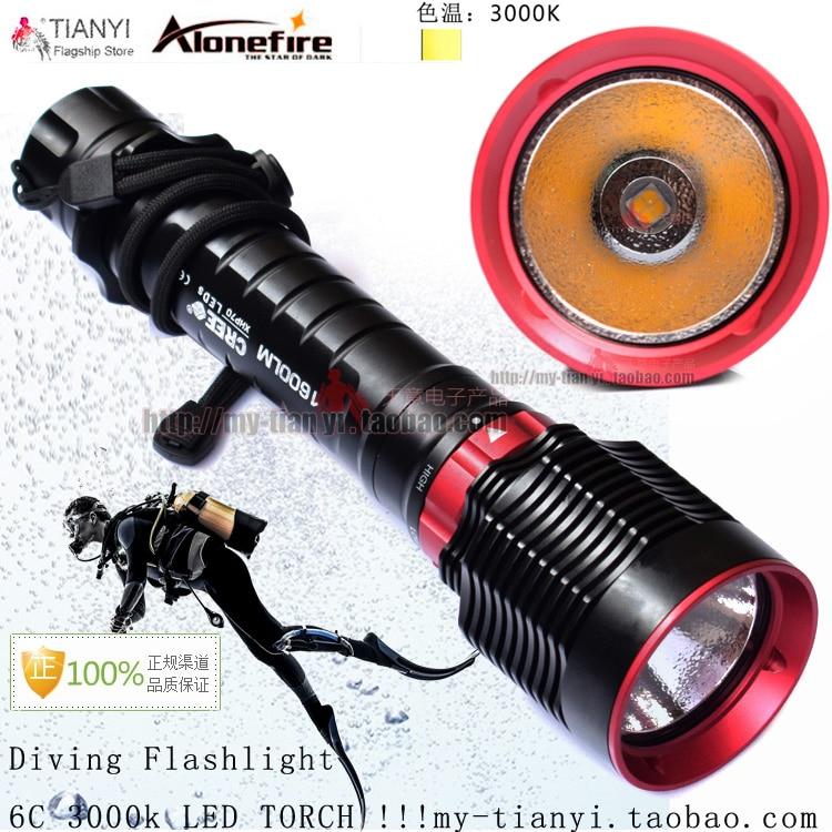 ФОТО High power lighting CREE XPH P70 LED high power underwater diver flashlight light long-range 6C yellow light flashlight