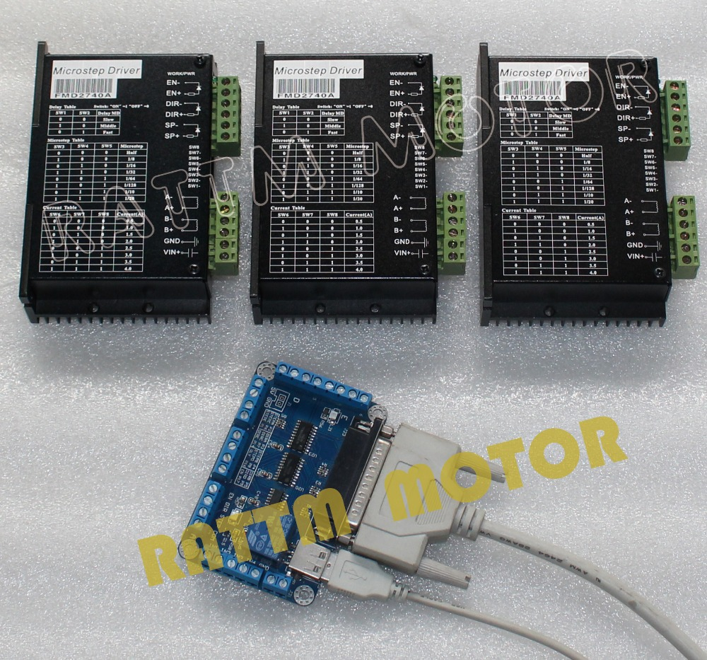 Buy 3 axis cnc stepper controller kit for 3 axis servo motor kit