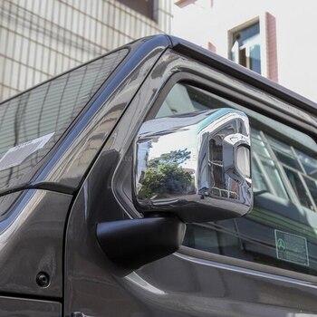 Cho Jeep Wrangler SUV 2018 2019 Phụ Kiện Sợi Carbon Phong Cách Chiếu Hậu 2 Mặt Gương Có Đúc Viền Xe Ô Tô Tạo Kiểu