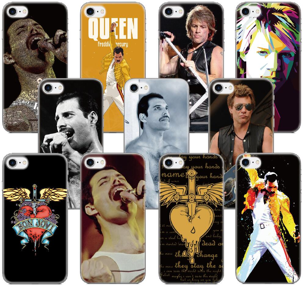 Bon Jovi Freddie Mercury Capa Cover For iphone X 4 4S 5 5S SE 5C 6 6S 7 8 Plus For iPod Touch 5 6 Phone Case Coque Fundas Bumper