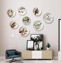 Creative ceramic flower and bird restaurant wall decoration wall hanging decoration living room cafe modern simple pendant. beautiful flower and bird design ceramic bedroom furniture seat stool for decoration