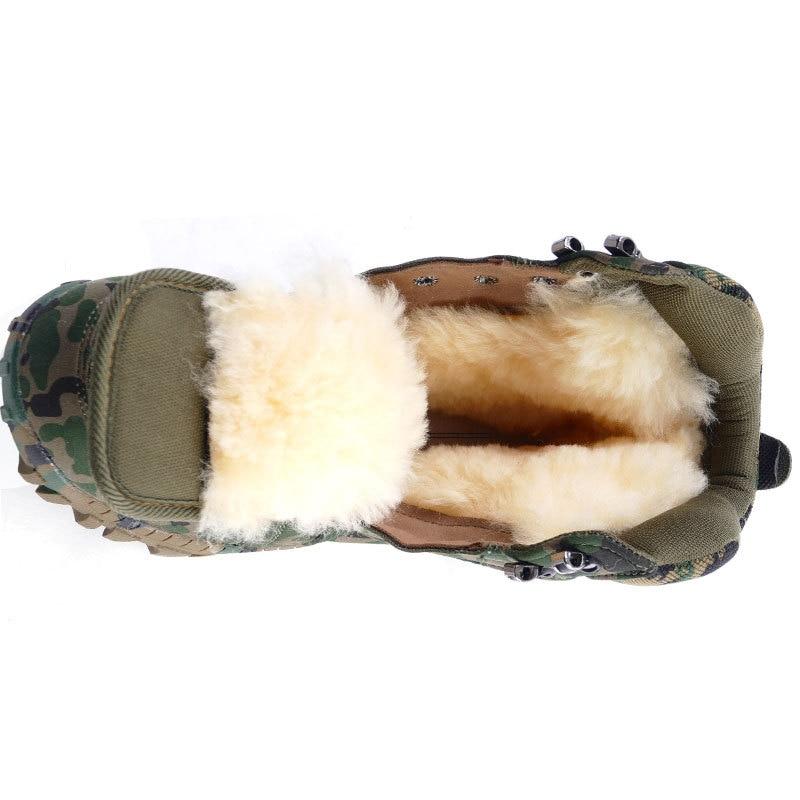 Personnalisé Bottes En Hommes Peluche Camouflage Hiver Haute Moto 84gPBq