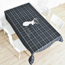 Nordic dinning table cover rectangular party wedding table cloth elk digital printing decorative tablecloths in the kitchen