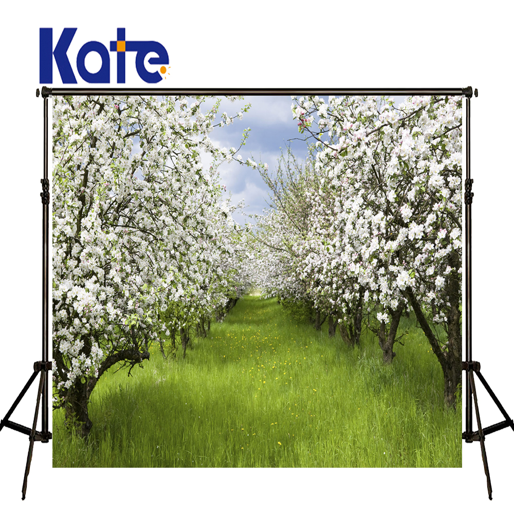 Kate Spring Forest Photography Backdrops Green Lawn Background Scenic Photography Backdrops Outdoor Wedding Background сумка kate spade new york wkru2816 kate spade hanna
