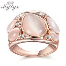Mytys Брендовое кольцо из розового золота модный дизайн кольца с опалом вечерние кольца для женщин R1814